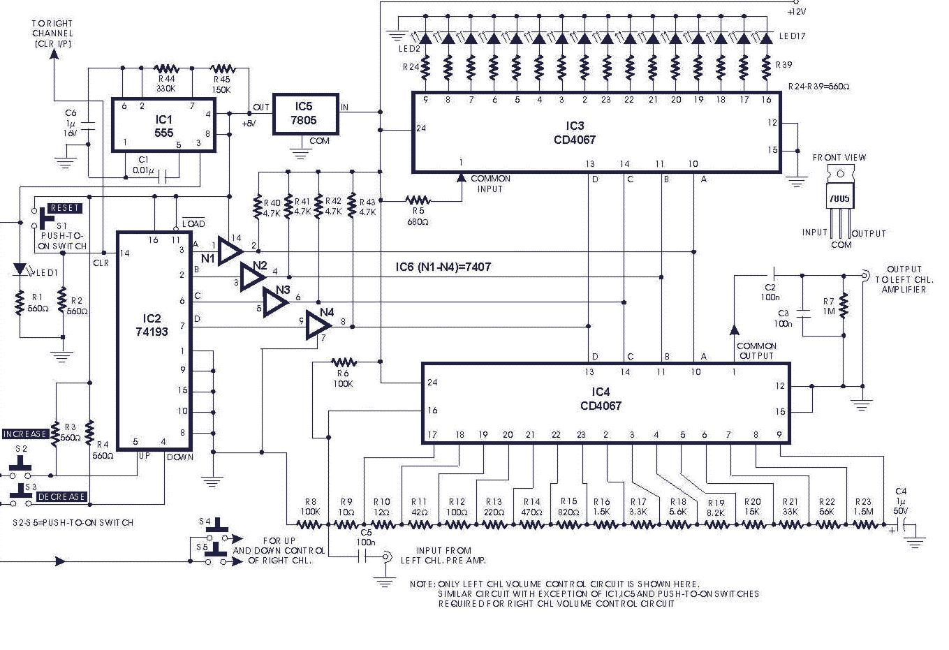 Digital Volume Control    Circuit Diagrams