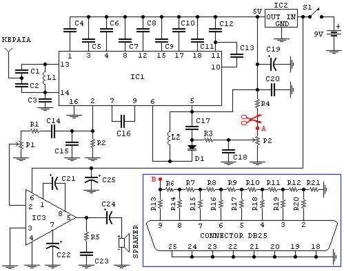 FM radio (may be used with PC) :: circuit diagrams