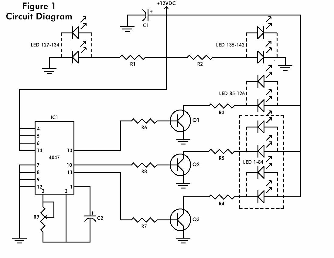 the flashing heart    circuit diagrams